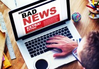 Digital Online Update Bad News Concept