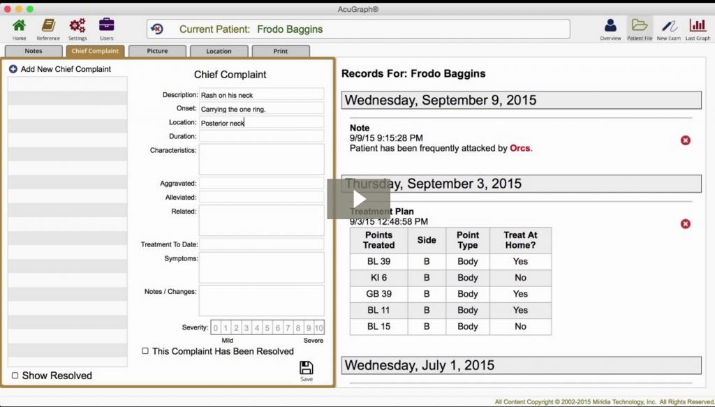 Acugraph 5 Video Training Case Management