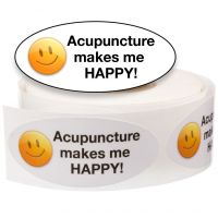 Acupuncture Stickers—Acupuncture Makes Me Happy!
